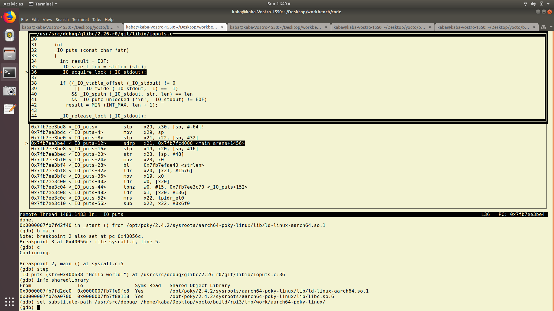 Debugging Application With Cross Gdb In Yocto Environment East
