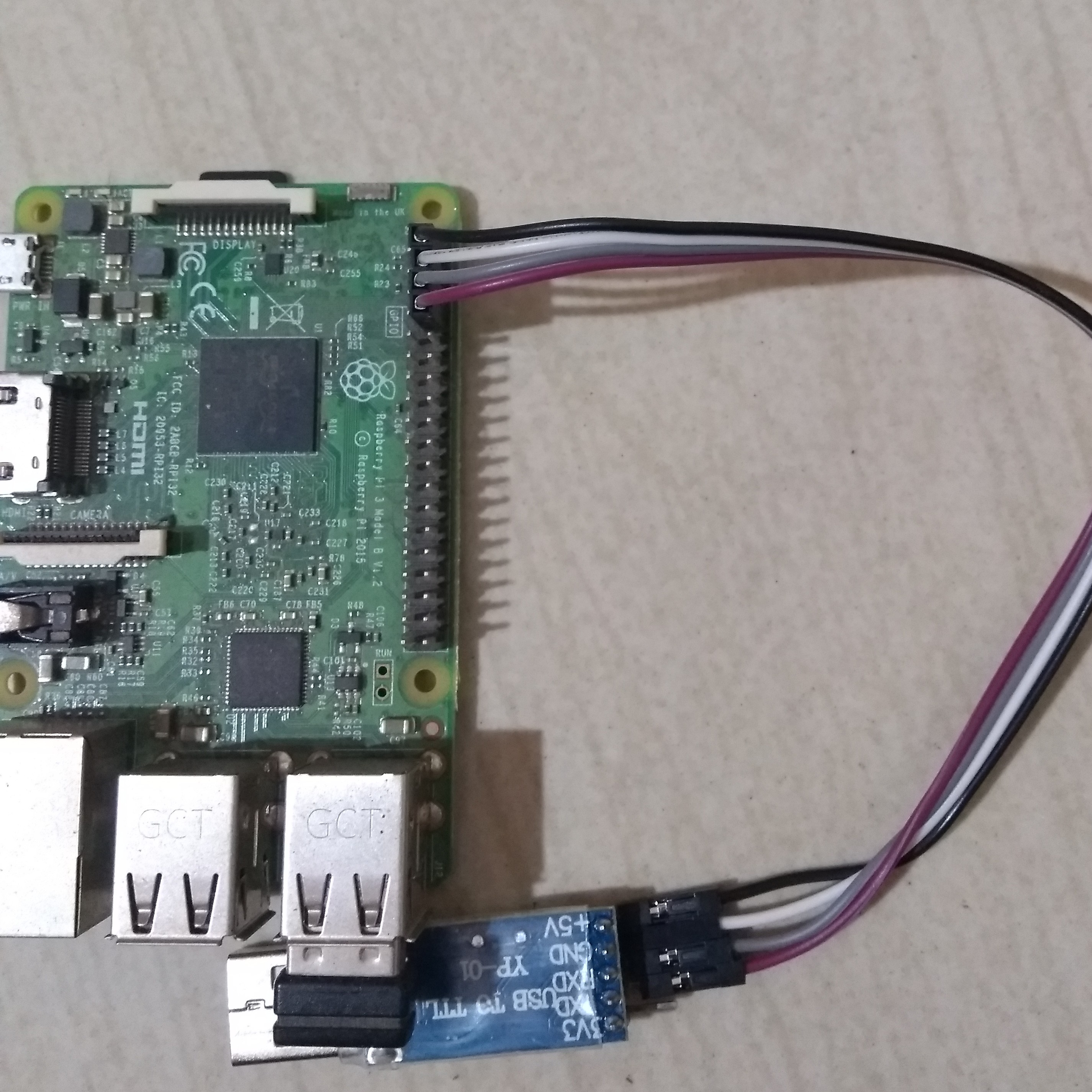 Raspberry Pi 3 serial connection